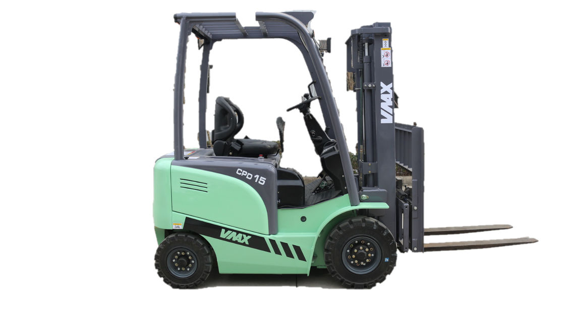Light Green Industrial Lift Truck Electric Fork Truck Warehouse 1-3.5ton CPD15